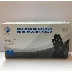 GUANTES DE NITRILO NEGROS