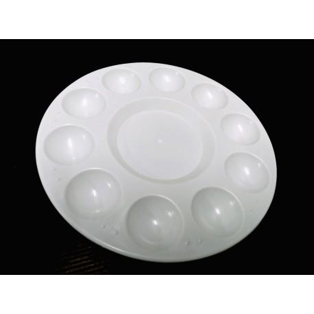 Paleta plástico redonda 10 huecos